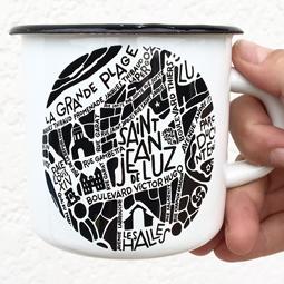 Mug émaillé Saint Jean de Luz