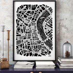 Grand Poster Bordeaux