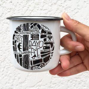 Mug émaillé Bayonne