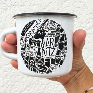 Mug Emaillée Biarritz