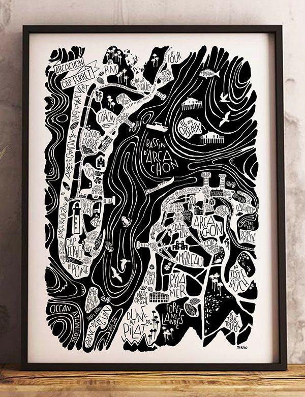 petit poster Arcachon / Cap Ferret